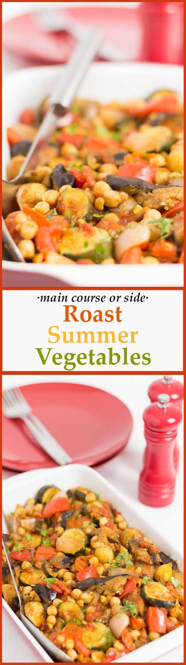Not only is this roast summer vegetables recipe vibrant and flavoursome but it's also absolutely perfect as a way to use up those left over veggies or suitable as a side.