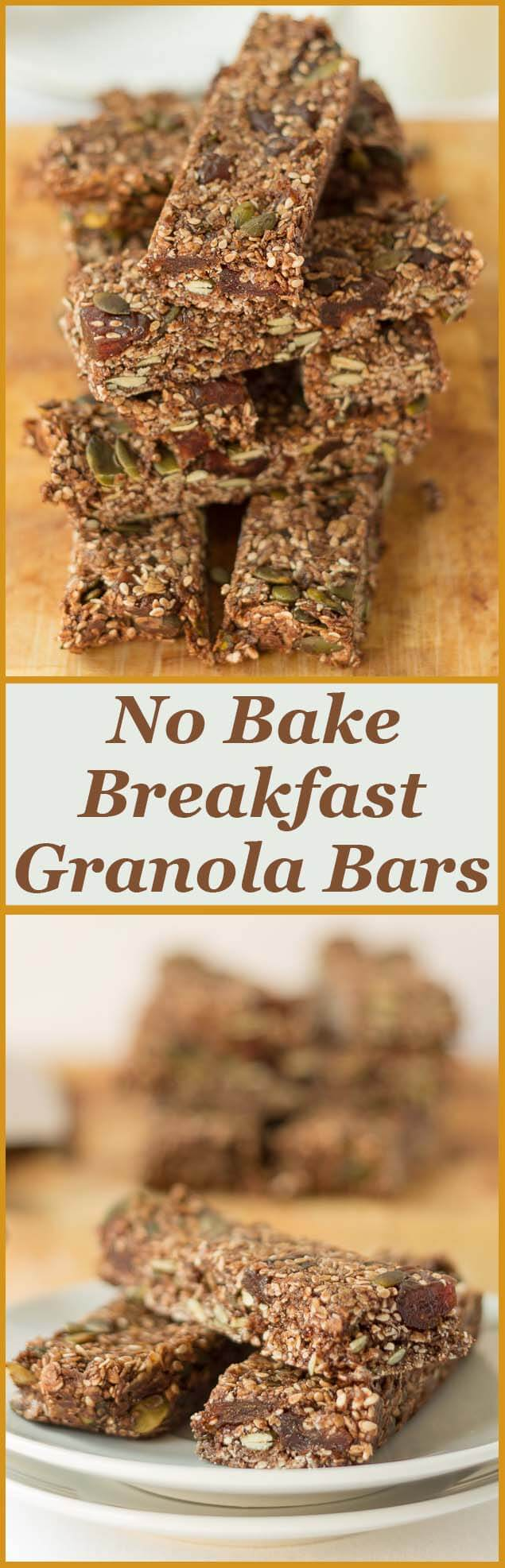 No bake breakfast granola bars, low calorie, nut free, easy to make, full of healthy natural goodness with a fantastic light chocolate taste as well.
