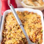 This super easy vegetarian quorn pasta bolognese bake takes just under an hour to prepare and can serve up to six people. Packed with healthy wholegrain fusilli pasta and vegetables. Then topped with a light cheesy crust you can bet it's a bake all the family will love!