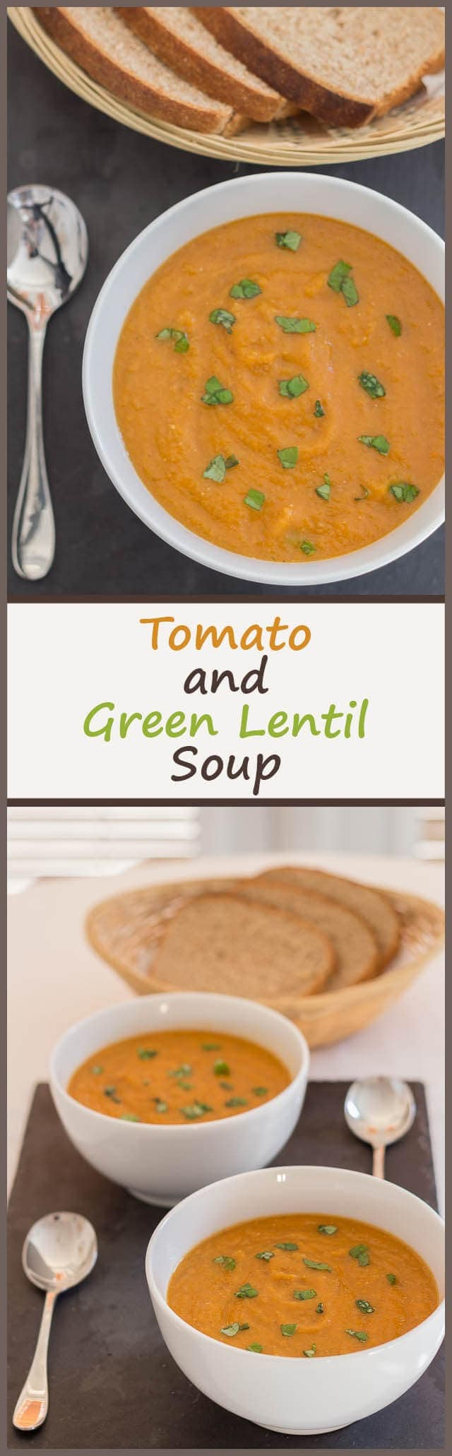 This simple, tasty, tomato and green lentil soup is one rich and satisfying meal! You can be sure that you'll not be tempted to reach for any unhealthy snacks after you've had a bowl of this amazing soup.