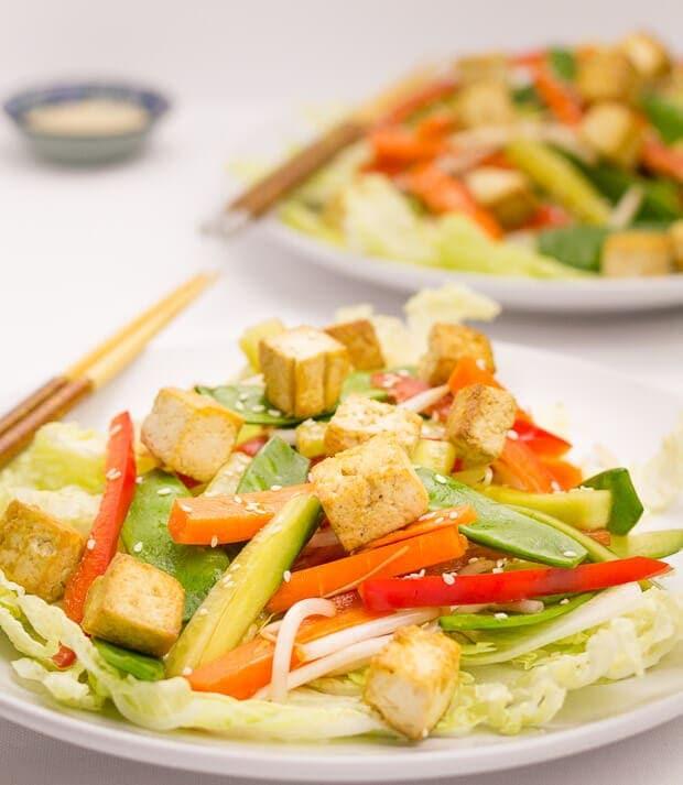 Asian Tofu Salad - Neils Healthy Meals