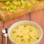 This healthy, vegan, cream of celery soup is easy to make, low cost, low calorie and deliciously tasty. All that without the addition of any cream!
