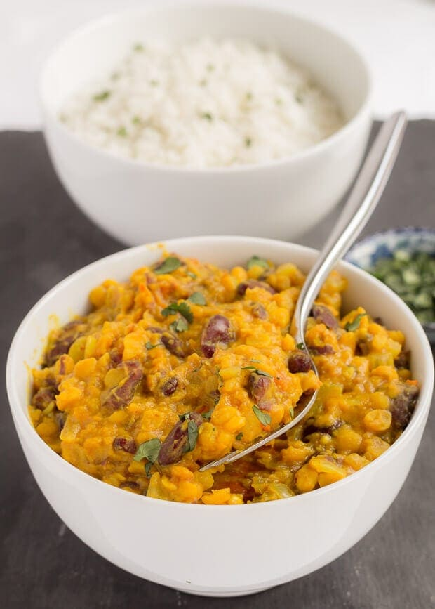 Lentil and Kidney Bean Dal