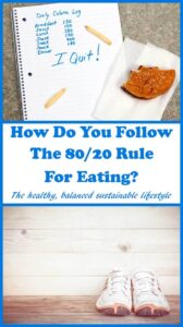 How do you follow the 80/20 rule for eating? Well to summarise quickly you choose to eat healthy foods for 80% of the time, which then gives you the opportunity to indulge in your favorite foods or treats for the remaining 20% of the time.