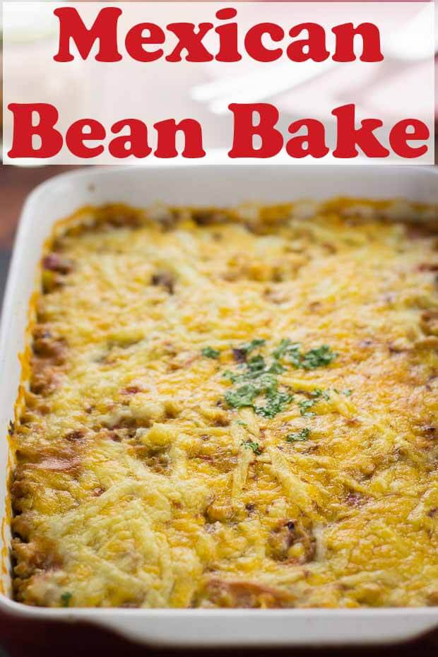 This Mexican bean bake is such a delicious and easy quick healthy meal. Stuffed full of protein, dietary fibre and essential vitamins and minerals, it's ready and on the family table in less than one hour! #neilshealthymeals #recipe #mexican #beanbake