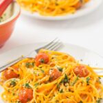 Butternut Squash Noodles with Spring Pesto and Roasted Tomatoes