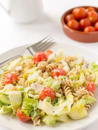 Honey Mustard Turkey Pasta Salad