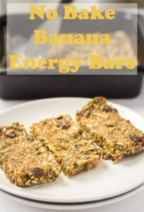 These no bake banana energy bars make a fantasticeasy to make tasty snack that will help boost your energy levels and keep you fuller for longer. Stuffed full of healthy fruits, seeds and nuts, they're refined sugar and dairy free. At only 259 calories each they're a perfect healthy pick me up! #neilshealthymeals #recipe #nobake #banana #energy #bar #snack #energybar