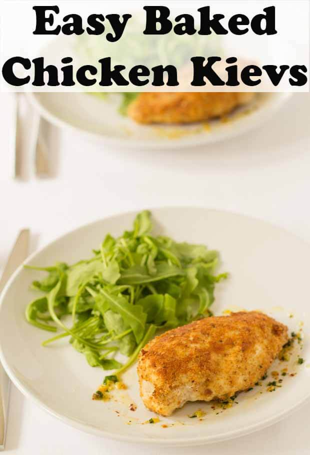 Easy baked chicken kiev is a delicious recipe for home-made chicken kievs. These are so much healthier than shop bought and are ready in just over an hour. #neilshealthymeals #recipe #chicken #kiev