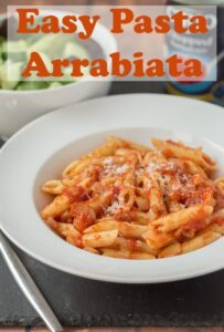 This easy pasta arrabiata recipe is a simple quick healthy meal for four made in less than half an hour. When you're short on time, but still want those classic Mediterranean flavours, this delicious dish will satisfy all those needs with minimal fuss and effort. #neilshealthymeals #recipe #dinner #pasta #arrabiata #arrabbiatasauce #vegetarian