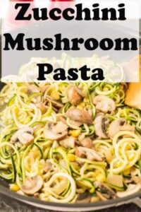 Zucchini mushroom pasta is a quick healthy vegetarian dinner that satisfies the craving you get for pasta without all the carbs. A perfect meat free meal. It's a perfect hearty combination of delicious flavours with only one cooking pan to wash up! #neilshealthymeals #recipe #zucchini #courgette #mushroom #pasta