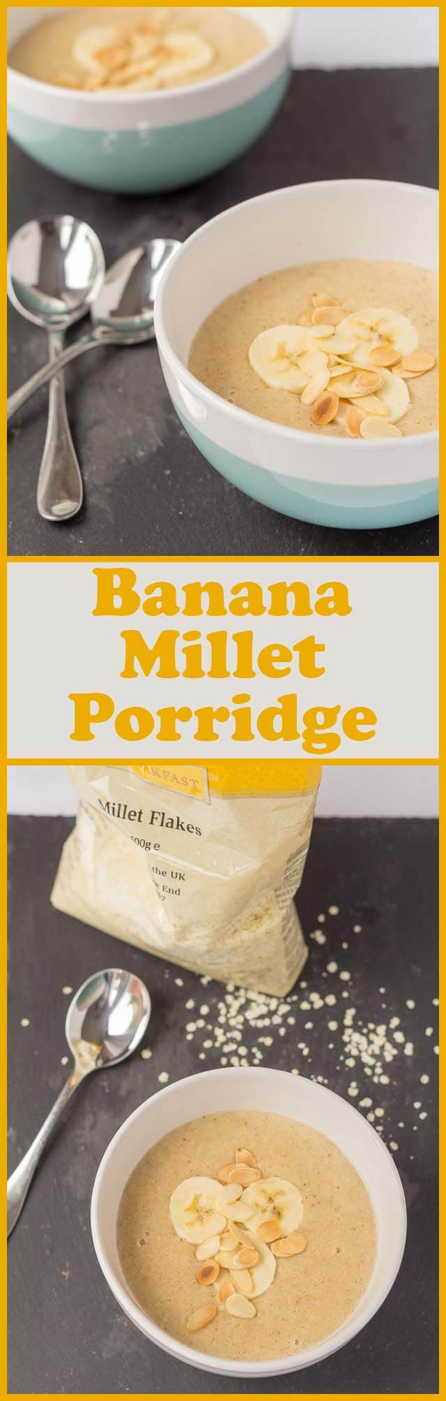 Banana millet porridge is a deliciously creamy tasting alternative breakfast to oatmeal. Gluten free and ready in just 15 minutes, this healthy and satisfying breakfast makes for a great start to the day!