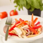 Chicken Pasta Salad with Tomato Vinaigrette