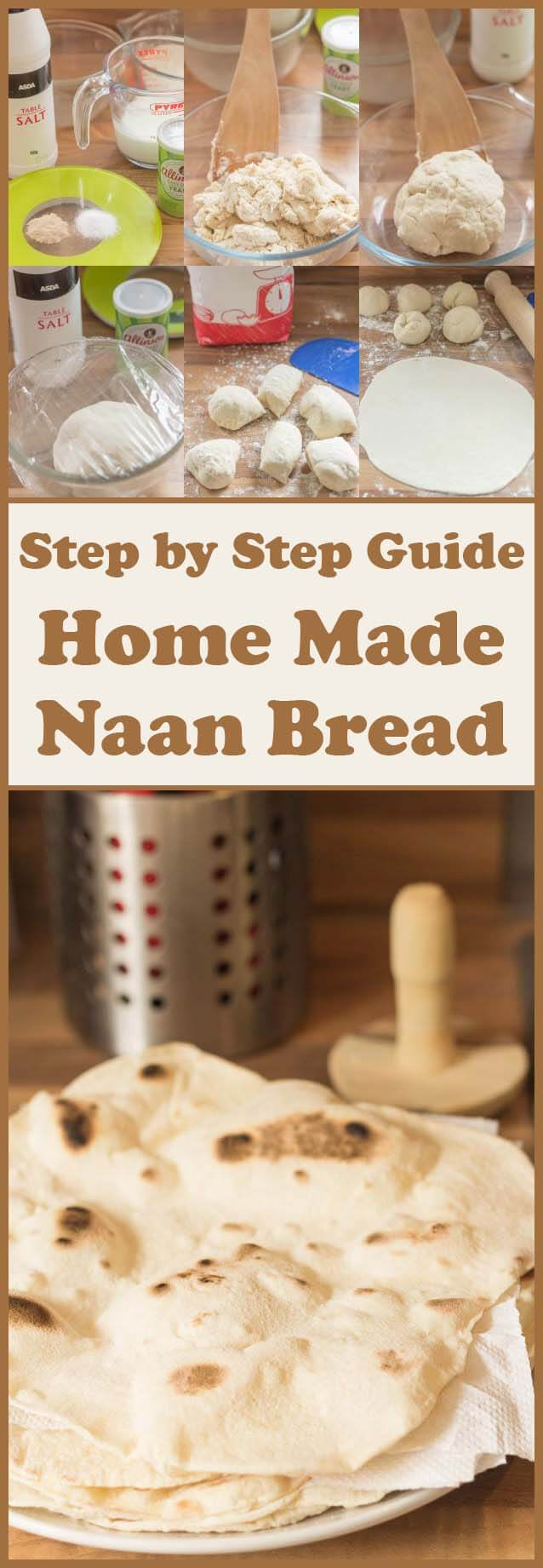 This home made naan bread recipe is so easy to make. Check out this step by step guide to show you how, in just over an hour, you could be scooping out your favourite curry with this healthier alternative. Made by using Greek yogurt and no butter/ghee, you'll never want to go back to shop bought or unhealthier versions once you've made this!