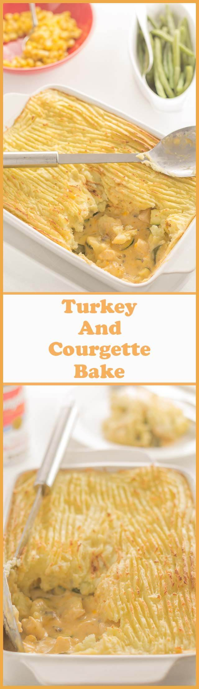 This turkey and courgette bake is the perfect weeknight dinner for when you're short of time. Healthy and filling with a creamy sauce inside topped with delicious mashed potato, and it's low cost too!