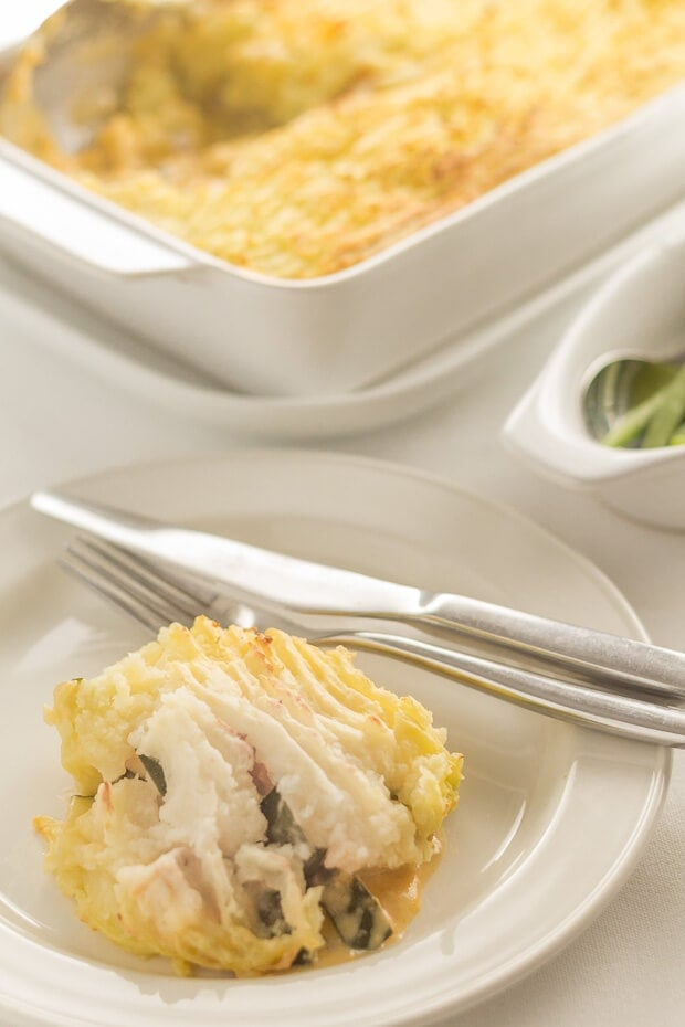 This turkey and courgette bake is the perfect weeknight dinner for when you're short of time. Healthy and filling with a creamy sauce inside then topped with delicious mashed potato, and it's low cost too!