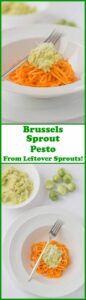 Brussels sprout pesto with spiralized sweet potato is a brilliant way of using up any left over sprouts. Quick to make, tasty, and low cost too. Use this Brussels sprout pesto recipe to make sure that nothing goes to waste this Christmas!