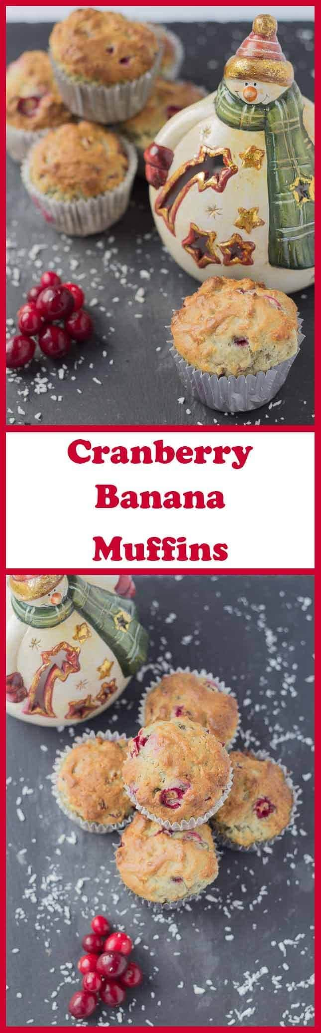 These cranberry banana muffins are not only delicious but they're low in fat and low calorie too! Perfect as a snack or as a grab and go healthy breakfast they take just 20 minutes to prepare and 20 minutes to bake.