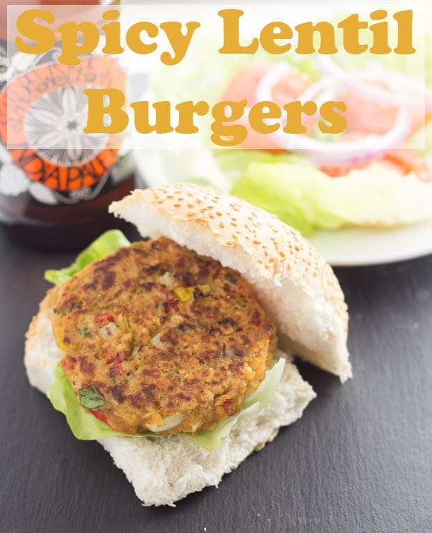These delicious spicy lentil burgers are not only packed full of taste but they're low calorie and low fat too. Vegetarian and easy to make, they won't cost you much either! #neilshealthymeals #recipe #dinner #burgers #lentilburgers #vegetarian #meatfree