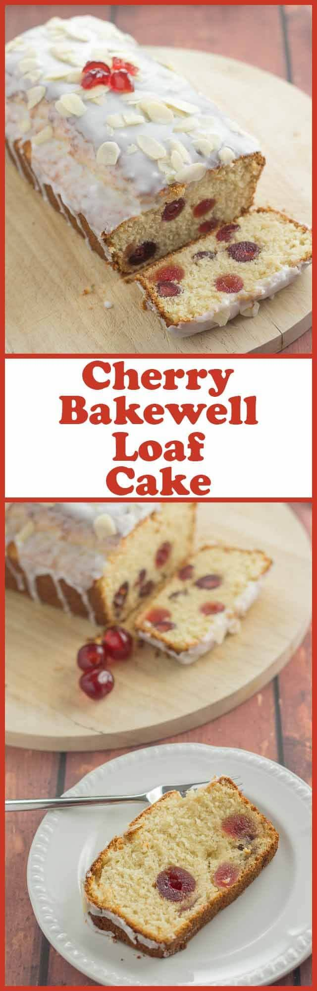 Cherry Bakewell Cake Recipe