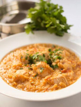 One Pot Chicken Dhansak