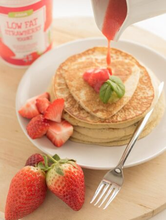 Strawberry Valentines Pancakes