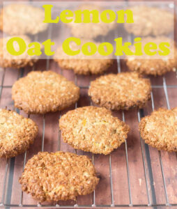 Lemon oat cookies are a delicious and simple bake with an amazing fresh lemon taste. Made with oats, wholemeal flour, coconut oil and lemon you'll love this healthier cookie recipe! #neilshealthymeals #recipe #lemon #oats #cookies #healthycookies