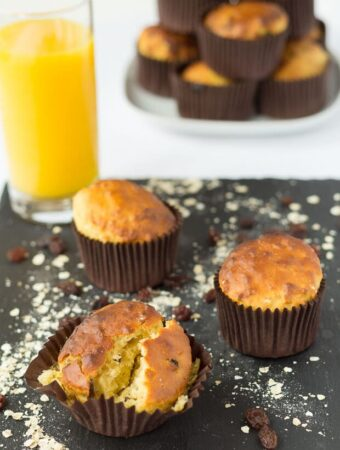 Raisin Oat Breakfast Muffins