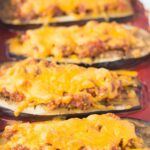 Baked Aubergine With Red Pesto And Cheese