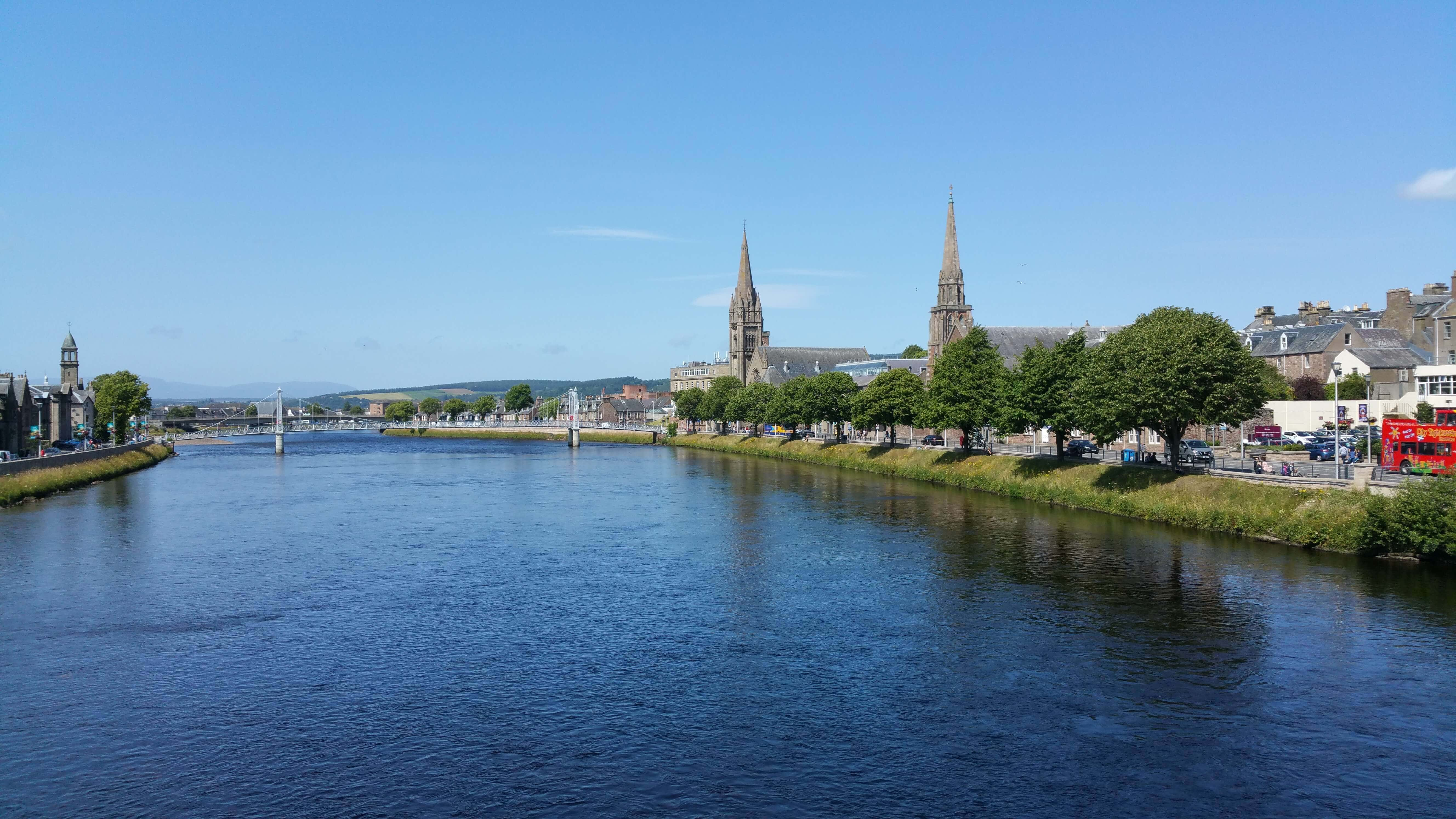 View looking down the River Ness