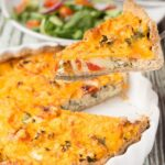 Cheesy Tomato And Kale Quiche