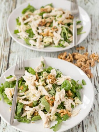Chicken Walnut And Blue Cheese Salad
