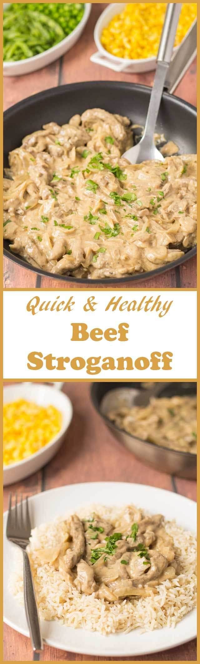 Quick healthy beef stroganoff is an easy cheats version of the classic hearty meal made to suit the whole family. This delicious creamy tasting recipe will fully satisfy those hungry mouths!