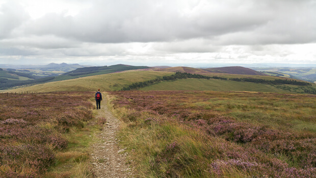 Southern Upland Way descending from Brown Knowe