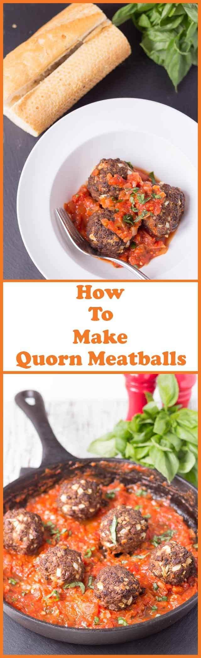 This Quorn meatballs recipe shows you how to make tasty Quorn meatballs in under one hour. Baked in the oven and with a delicious tomato sauce this is an excellent meat free weeknight family meal! #neilshealthymeals #quorn #quornmeatballs #vegetarian #meatfree #meatballs