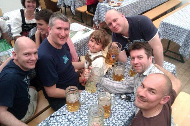 Munich Beer Festival 2012. Gregg Johnston. Scott McGechaen. Barry Johnston. Andrew Munro. Neil Lockier
