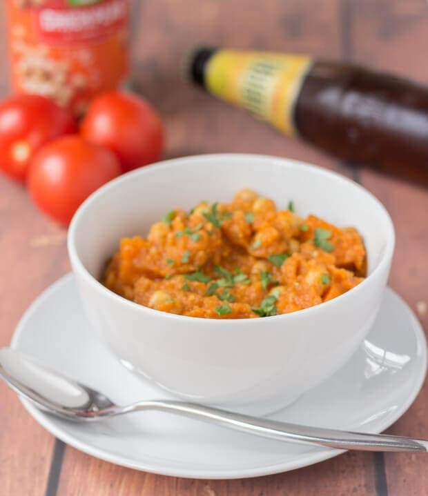 Lentil sweet potato and chickpea curry is a tasty vegan and gluten-free quick healthy meal. A simple blend of spices and healthy ingredients combine to create this amazing dish!