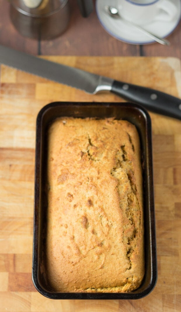 Pumpkin and walnut loaf is adelicious moist pumpkin bread filled with crunchy little pieces of walnut. Made from whole wheat flour this tasty sharing recipe is a healthier way to enjoy pumpkin with friends and family!