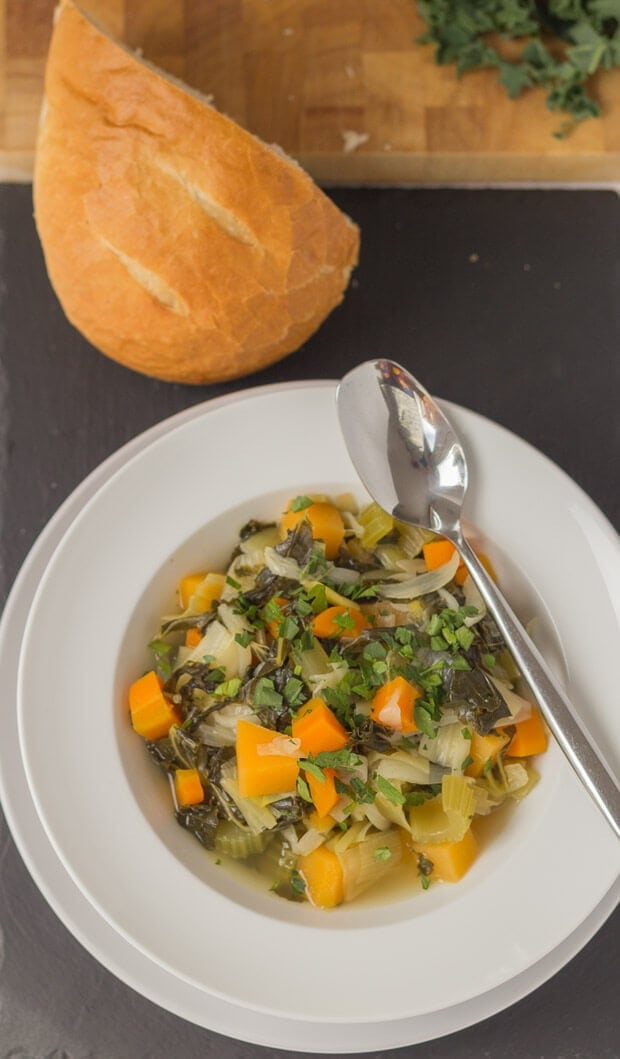 This homemade Scottish vegetable stew is just the thing to warm you up on a chilly evening. And, it's even better when served with thick slices of farmhouse bread!