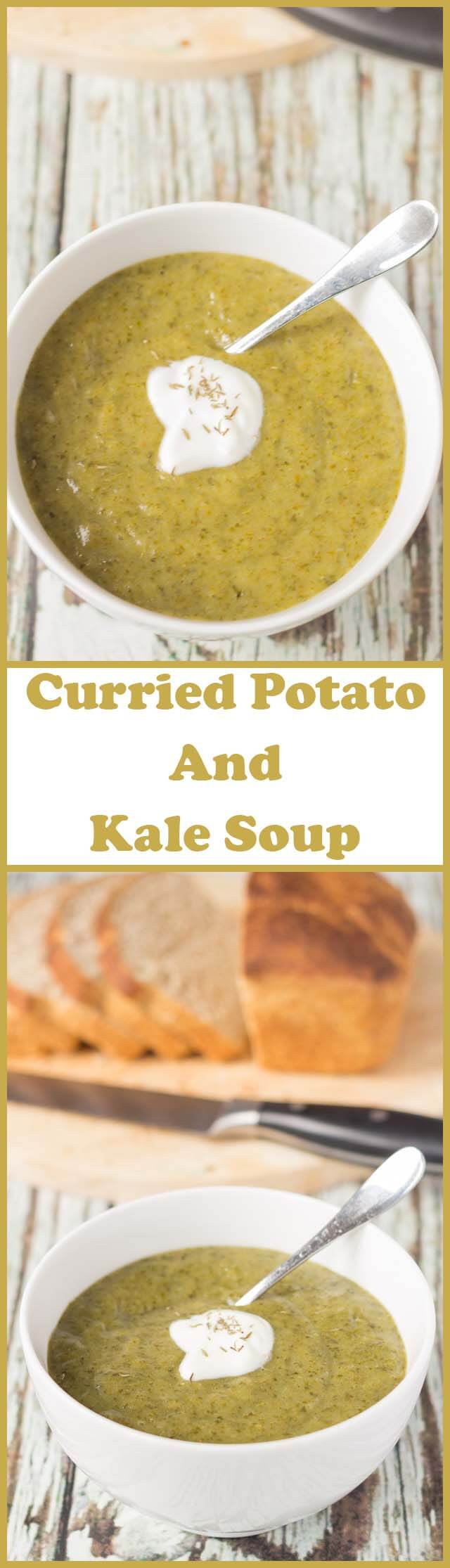 Curried potato and kale soup is a delicious and nutritious budget soup. With a beautiful creamy texture and a hint of curry, this filling soup will not leave you still feeling hungry.