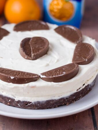 No bake chocolate orange cheesecake. Smooth and luxurious. Delicious and indulgent. But remarkably simple to make. Perfect for Christmas or dinner parties!