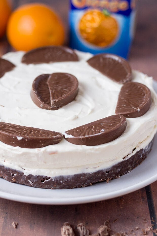 No Bake Chocolate Orange Cheesecake