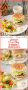 Quick healthy salmon burgers are the perfect easy dinner option. It takes just 40 minutes to prepare and cook these delicious heart healthy homemade patties.