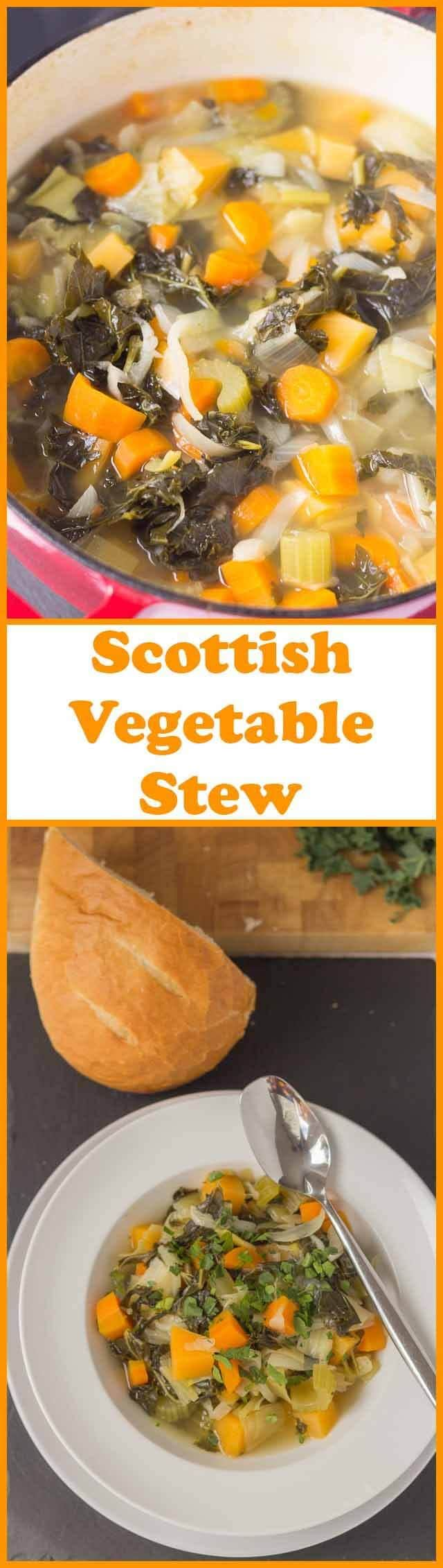 This homemade Scottish vegetable stewis just the thing to warm you up on a chilly evening. And, it's even better when served with thick slices of farmhouse bread!