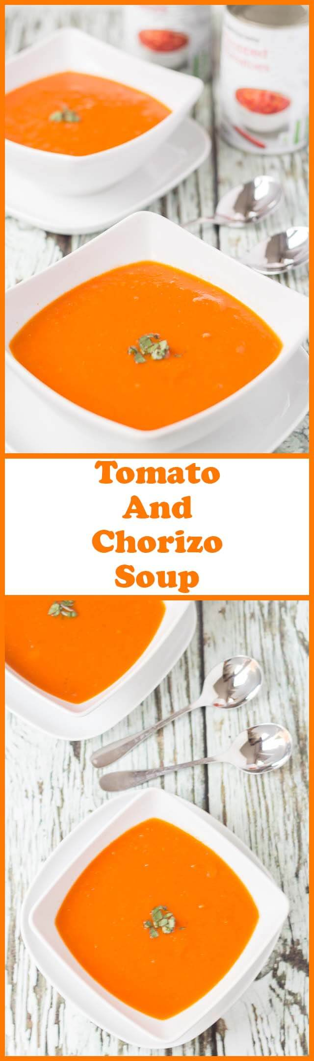 Tomato and chorizo soup is the perfect winter warmer. Vibrant and bursting with flavour, this easy low cost rustic soup is just what you need when it's cold outside!
