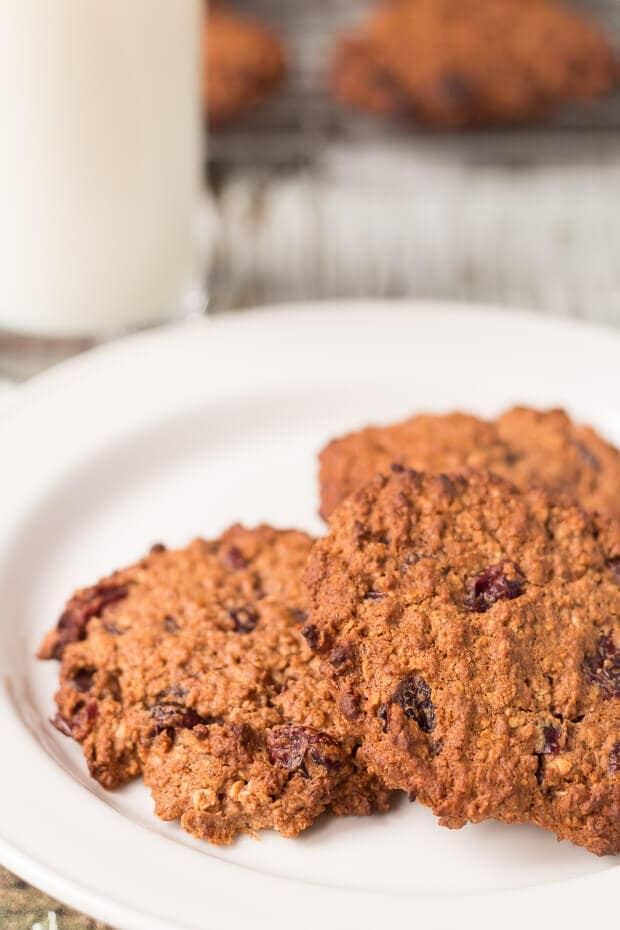 Wholemeal Chocolate Cranberry Cookies