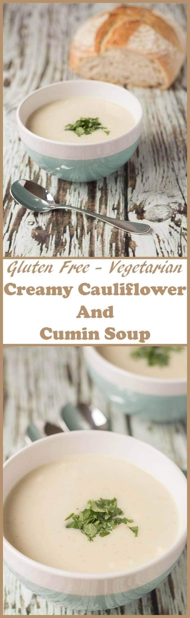 Creamy cauliflower and cumin soupis a quick and easy delicious soup. It's the perfect go-to winter comfort soup and ideal as a starter for a meal or on its own.