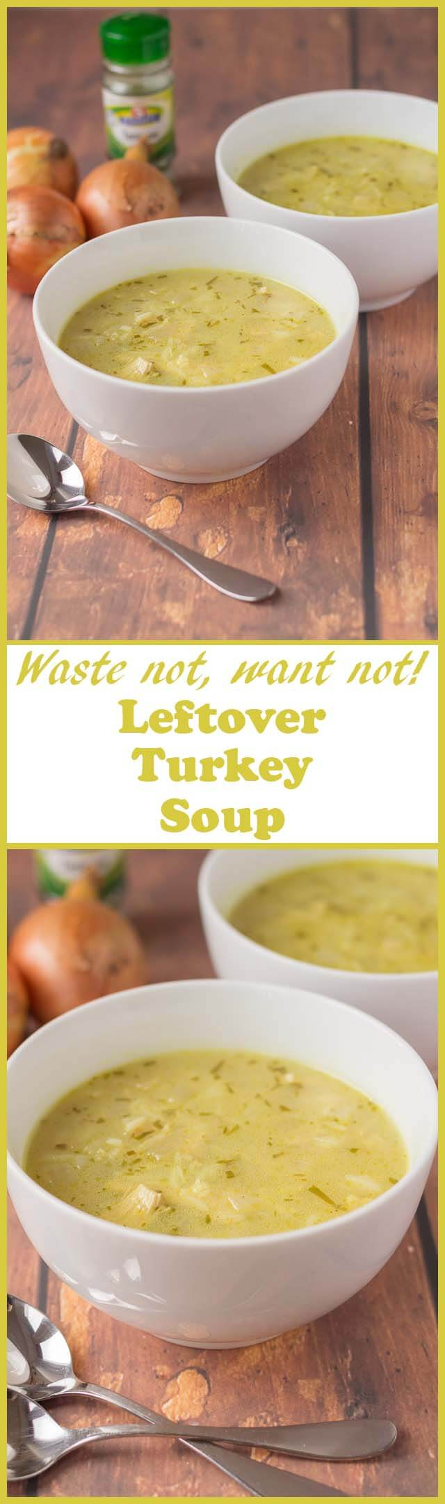 Leftover turkey soup is the ultimate recipe to use up any of that remaining turkey from Thanksgiving or Christmas. This delicious healthy recipe is literally bursting with flavour.
