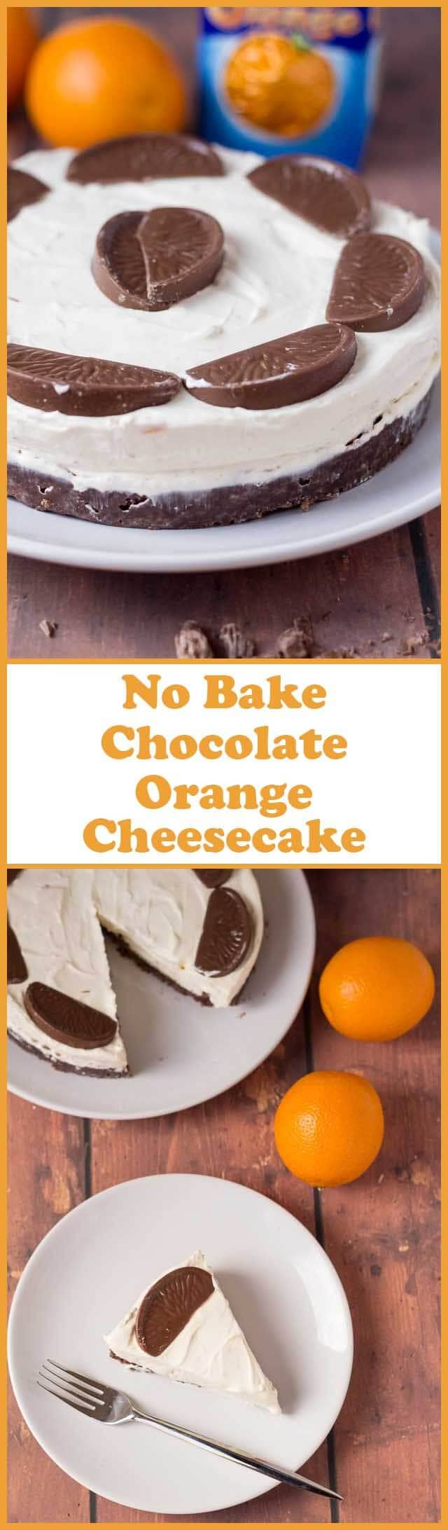 No bake chocolate orange cheesecake. Smooth and luxurious; delicious and indulgent but remarkably simple to make. Perfect for Christmas or dinner parties!