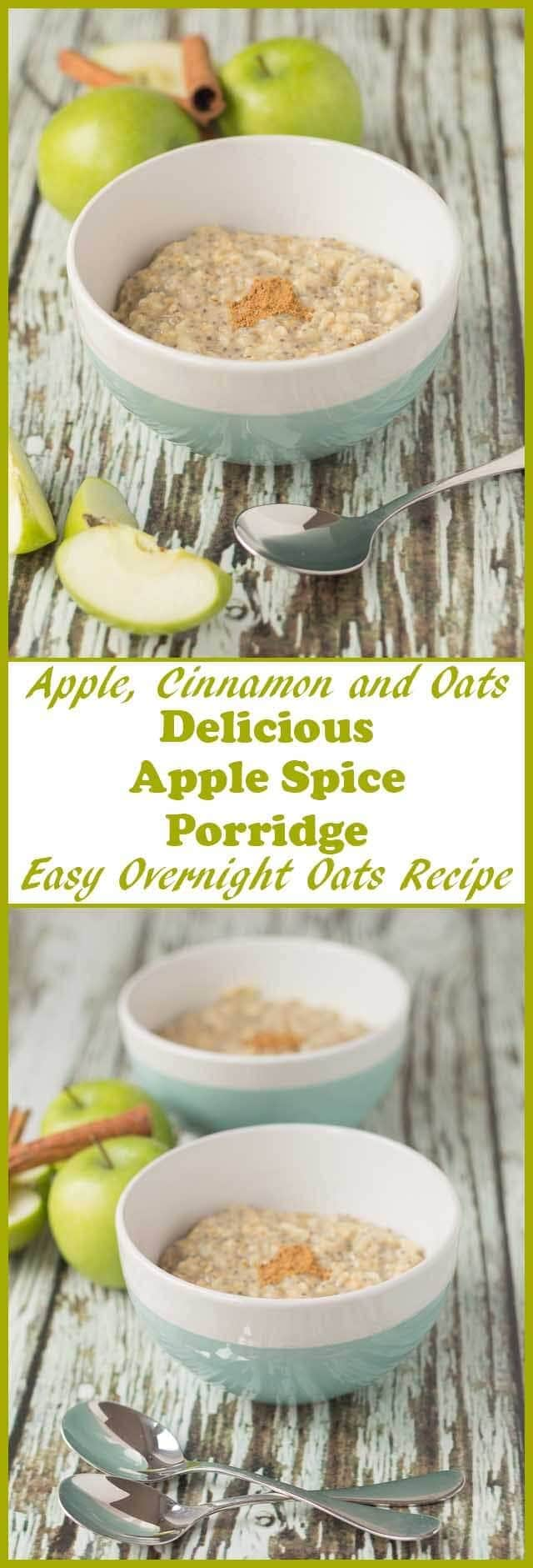 Apple spice porridge is a deliciously simple heart-warming breakfast with a sweet apple taste and aromas of cinnamon, it's literally a hug in a bowl. Perfect for cold winters mornings.